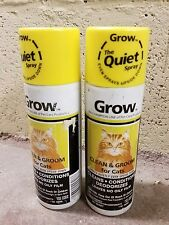 Lot Of 2 Grow Champion Line Clean & Groom For Cats Conditions Deodorizing 7oz