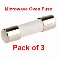 Pack de 3, four à micro-ondes 10 a 20 mm céramique fusible fusibles