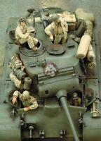 1/35 Resin Figure Model M26 Pershing Heavy Tank Crew WWII (4 Figures) 339