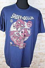 Marvel Spidey Vs Goblin Men's 2XL Navy Blue Short Sleeve Cotton T-Shirt XXL