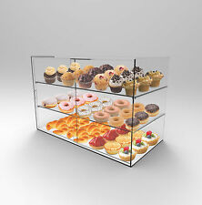 3 Shelf Bakery Display Acrylic Perspex Sliding Door - Cakes,Muffins,Pastries