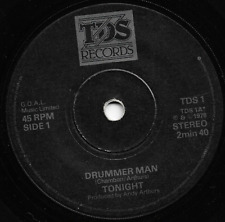 TONIGHT - DRUMMER MAN / STROLL ON BY - TDS1 1978 - ORIGINAL 70s PUNK