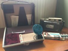 Vintage Gray Polaroid Land Camera 850 Electric Eye with case and contents