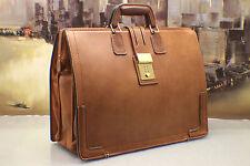 SCHLESINGER Vintage BELTING Leather Doctor Lawyer Briefcase Bag Mens MSRP$574.00