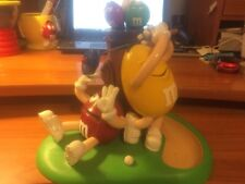 M and M Candy Dispenser...Golfing Red and Yellow...RARE, Collectible...