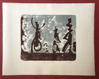 Strawalde, Ausflug, Lithographie, 1995, handsigniert und datiert