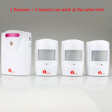 Outdoor Driveway Wireless Motion Alert Alarm Bell Chime System Sync 3 Sensors