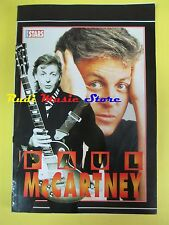 BOOK LIBRO PAUL McCARTNEY THE BEALTES super stars 1 no cd lp dvd live