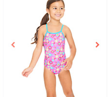 Girls Age 1yr Kids Swimsuit Flora Yaroomba Pink