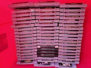 Massive Lot 100 SNES GAMES100% Authentic MARIO, CONTRA, Street Fighter, MORE!!!!