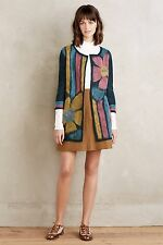 NWT Anthropologie Craft Flower Cardigan by Troubadour Size S
