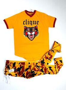 NEW 2-Piece Men's Camo Predator Active/Casual T-Shirt & Track Pants Set (5 LEFT)