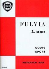 LANCIA FULVIA SERIE II MANUALE ISTRUZIONI BOOK LIBRO AUTO