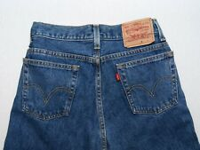 Levi's 516 men's straight leg slim fit zip fly mid blue denim jeans W30/L31