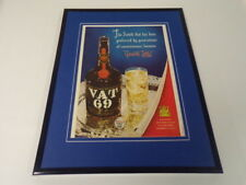 1951 Vat 69 Scotch Framed 11x14 ORIGINAL Vintage Advertisement