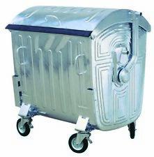Mülltonne / Müllgroßbehälter Stahl / verzinkt 1.100 liter