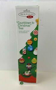 Hallmark Countdown to Christmas Kids Advent Calendar Felt Tree Ornaments ~ NEW