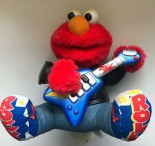 Vintage Tyco 1998 Rock N Roll Elmo w/ Guitar Plays Music Sings And Shakes