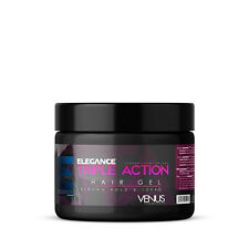 Elegance Triple Action Styling Hair Gel Venus Pink Label 17oz - FACTORY SEALED