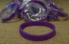 20 Silicone Purple Awareness Wristband Bracelet Cancer Alzheimer's Epilepsy