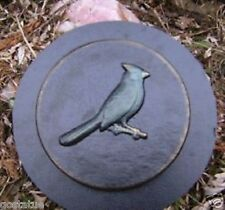 Cardinal  Bluejay bird stepping stone plaster concrete mold