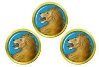 Héraldique Lion Tête Marqueurs de Balles de Golf