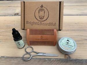 Beard Care Gift Set | Oil, Balm | Comb, Scissors | Christmas Gift | Grooming Kit