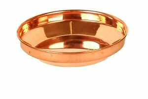 Handmade Indian Pure Copper Pooja Plate Prashad Bowl For Worship Perpose