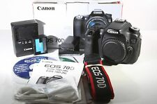 Canon EOS 70D 20.2MP Schwarz Digital SLR Kamera-Körper Nur