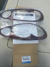 01 - 05 Mazda Miata Head light bezels garnet red OEM NEW NO66 V4 355F 21