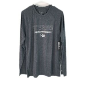 Champion Mens Pittsburgh Pitt Panthers Long Sleeves Gray Graphic T-Shirt Size M