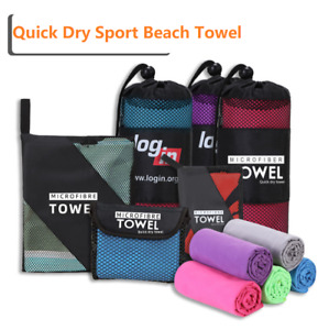Microfiber Towel Sports Bath Gym Quick Drying Travel Swimming Camping Beach