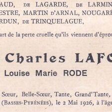 Louise Marie Rode Mme Charles Lafont Salies-de-Béarn 1926 Paris Garches