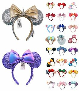 Ariel Disney Park Mickey Bow American Flag Minnie Mouse Ears Cos Belle Headband
