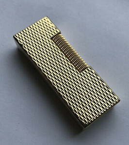 Dunhill Gold 'Diamond Head' Rollagas Lighter - Fully Overhauled