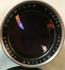 Leica LEITZ WETZLAR SUMMILUX 50mm F1.4 w/ Hood M MOUNT Made in Germany #1757456