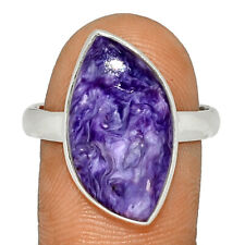 Siberia Charoite 925 Sterling Silver Ring Jewelry s.10.5 BR41799