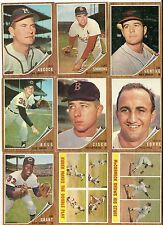 1962 Topps BB Lot 100 Different Cards EX - EX/MT Nice High Grade No Creases
