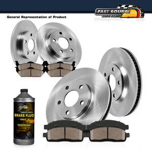 For Town & Country Caravan Journey Front+Rear Disc Brake Rotors & Ceramic Pads