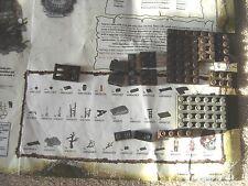 Mega Bloks Pirates of the Caribbean 1025 Replacement Brick Lot Brown Dk Gray 12