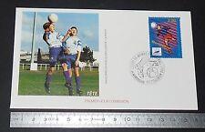 ENVELOPPE 1er JOUR PHILATELIE 1996 FRANCE 98 COUPE MONDE FOOTBALL MONTPELLIER