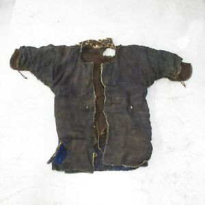 D1327: Rare, real old iron chains underwear for Japanese SAMURAI's armor YOROI