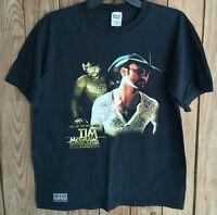 Tim McGraw Men's Medium Tshirt Dancehall Doctors 2004 Tour Black Short Sleeve