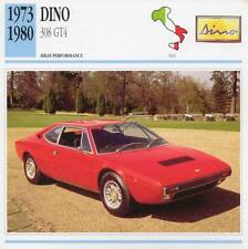 1973-1980 DINO 308 GT4 Classic Car Photo/Info Maxi Card