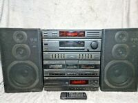 Vintgae Retro Jvc Ca-e33 Lbk Hifi Music Centre CD/Radio/Cassette Player + remote