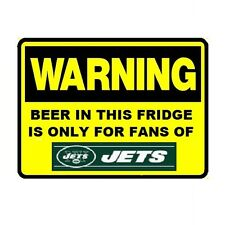 134 Beer Fridge New York Jets NFL Football Warning Refrigerator Magnet