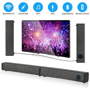 Bluetooth Sound Bar Wireless Bass Wired Subwoofer Home Theater TV Speaker Remote