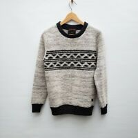 Scotch & Soda Wool Black Gray Sweater Oversized Small