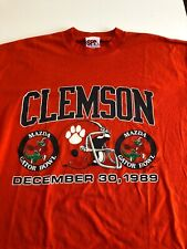 Vintage 1989 SPA Sportswear T Shirt Clemson Tigers Gator Bowl XL Orange S/S