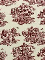HOME COLLECTIONS by MADISON AVENUE DESIGNS Fabric Ivory Red Toile 3-1/3 Yd